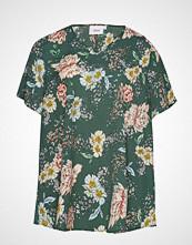 Zizzi Vviola V-Neck, S/S, Blouse T-shirts & Tops Short-sleeved Grønn ZIZZI