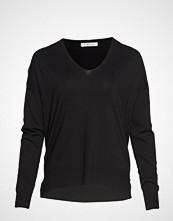 Violeta by Mango Asymmetric Hem Sweater Strikket Genser Svart VIOLETA BY MANGO