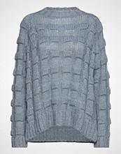 Rabens Saloner Croc Knit Boxy Sweater Strikket Genser Blå RABENS SAL R