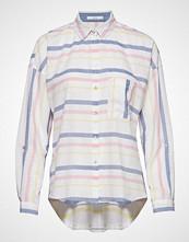 Edc by Esprit Blouses Woven Langermet Skjorte Hvit EDC BY ESPRIT
