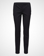 Filippa K Sophia Cotton Stretch Trousers Bukser Med Rette Ben Svart FILIPPA K