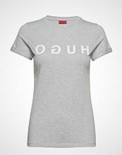 HUGO Denna_4 T-shirts & Tops Short-sleeved Grå HUGO