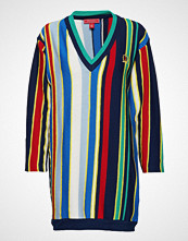 Hilfiger Collection Stripe V-Nk Sweater Strikket Genser Multi/mønstret HILFIGER COLLECTION