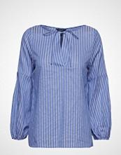 Gant O2. Pp Sateen Striped Blouse Bluse Langermet Blå GANT