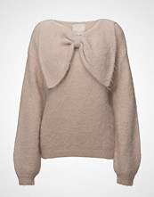 by Ti Mo Hairy Knit Bow Jumper Strikket Genser Rosa BY TI MO