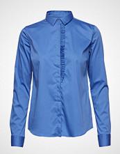 Mos Mosh Tilda Frill Shirt Langermet Skjorte Blå MOS MOSH