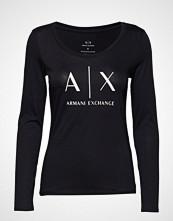 Armani Exchange Ax Woman T-Shirt T-shirts & Tops Long-sleeved Svart ARMANI EXCHANGE