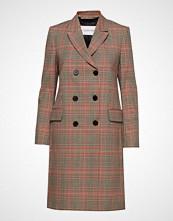 Calvin Klein Fitted Double Breasted Coat Ullfrakk Frakk Brun CALVIN KLEIN