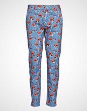 Pulz Jeans Lucky Pant Bukser Med Rette Ben Blå PULZ JEANS