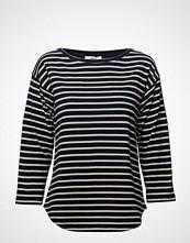 Mads Nørgaard Bretagne Organic Thilke T-shirts & Tops Long-sleeved Blå MADS NØRGAARD