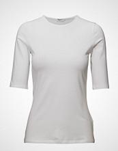 Filippa K Cotton Stretch Elbow Sleeve T-shirts & Tops Short-sleeved Hvit FILIPPA K