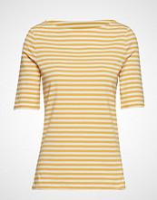 Gant D1. Boatneck Striped Top T-shirts & Tops Short-sleeved Gul GANT