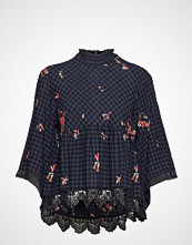 Odd Molly Embroidered Space Roses Blouse Bluse Langermet Blå ODD MOLLY