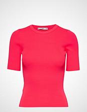 Mango Fluor Ribbed Top T-shirts & Tops Short-sleeved Rosa MANGO