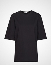 Filippa K Long Crew Neck T-Shirt T-shirts & Tops Short-sleeved Svart FILIPPA K