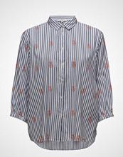 Lee Jeans Bell Sleeve Shirt Bluse Kortermet Blå LEE JEANS