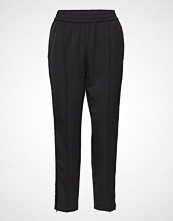 Scotch & Soda Tailored Pants With Velvet Side Tapes Bukser Med Rette Ben Svart SCOTCH & SODA