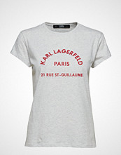 Karl Lagerfeld Rue Lagerfeld T-Shirt T-shirts & Tops Short-sleeved Hvit KARL LAGERFELD