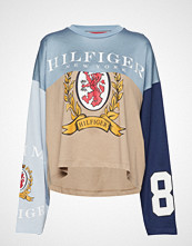 Hilfiger Collection Spliced Football Tsh T-shirts & Tops Long-sleeved Multi/mønstret HILFIGER COLLECTION