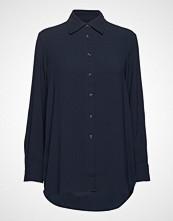 Filippa K Long Crepe Shirt Langermet Skjorte Blå FILIPPA K