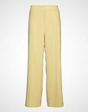 Filippa K Hutton Crepe Trouser Bukser Med Rette Ben Gul FILIPPA K