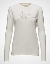 Rabens Saloner Love L/S T-Shirt T-shirts & Tops Long-sleeved Hvit RABENS SAL R