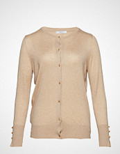 Violeta by Mango Buttons Speckled Cardigan Strikkegenser Cardigan Beige VIOLETA BY MANGO
