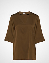 Filippa K Silk Tunic Bluse Kortermet Grønn FILIPPA K