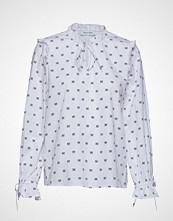 Only Onljune L/S Frill Shirt Wvn Langermet Skjorte Blå ONLY