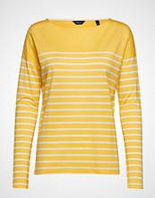 Gant O1. Light Weight Striped Top T-shirts & Tops Long-sleeved Gul GANT