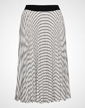 Karl Lagerfeld Pleated Logo Midi Skirt Knelangt Skjørt Hvit KARL LAGERFELD