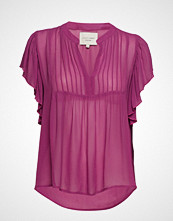 Lollys Laundry Isabel Top Bluse Ermeløs Lilla LOLLYS LAUNDRY