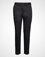 Filippa K Emma Cotton Trouser Bukser Med Rette Ben Svart FILIPPA K