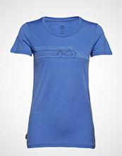Icebreaker Wmns Tech Lite Ss Low Crewe Cadence Pulse T-shirts & Tops Short-sleeved Blå ICEBREAKER