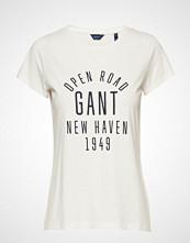 Gant D1. Mixed Graphics Ss T-Shirt T-shirts & Tops Short-sleeved Hvit GANT