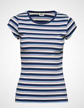 Mads Nørgaard 2x2 Soft Stripe Trappy T-shirts & Tops Short-sleeved Blå MADS NØRGAARD