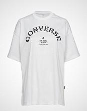Converse Converse Areca Palm Mesh Boxy Tee T-shirts & Tops Short-sleeved Hvit CONVERSE
