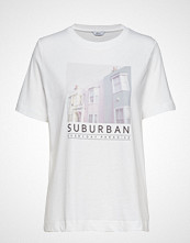 Envii Enbeverly Ss Tee Print 5310 T-shirts & Tops Short-sleeved Hvit ENVII