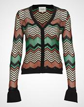 Second Female Wave Knit Cardigan Strikkegenser Cardigan Multi/mønstret SECOND FEMALE