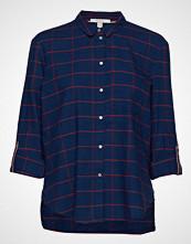 Esprit Casual Blouses Woven Langermet Skjorte Blå ESPRIT CASUAL