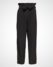 Designers Remix Veronique Pleat Pants Bukser Med Rette Ben Svart DESIGNERS REMIX
