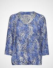 Betty Barclay Blouse Short 3/4 Sleeve Bluse Langermet Blå BETTY BARCLAY