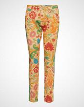 Please Jeans Plain Red Flower Bukser Med Rette Ben Multi/mønstret PLEASE JEANS