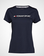 Tommy Sport Tee Chest Logo T-shirts & Tops Short-sleeved Blå TOMMY SPORT