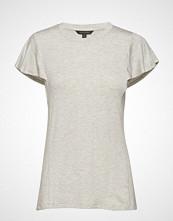 Banana Republic Ss Soft Stretch Flounce Slv Tee T-shirts & Tops Short-sleeved Creme BANANA REPUBLIC