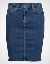 Lee Jeans Pencil Skirt Knelangt Skjørt Blå LEE JEANS