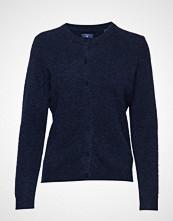 Gant O1. Woolen Hairy Cardigan Strikkegenser Cardigan Blå GANT