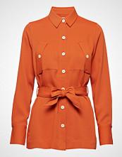 Scotch & Soda Twill Cargo Shirt With A Shell Fabric Belt Langermet Skjorte Oransje SCOTCH & SODA