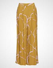 Bruuns Bazaar Ina Abstract Pant Vide Bukser Gul BRUUNS BAZAAR