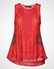 Desigual Ts Alma T-shirts & Tops Sleeveless Rød DESIGUAL